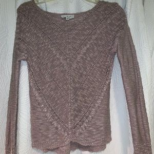 Long Sleeve Knitted Lilac Blouse
